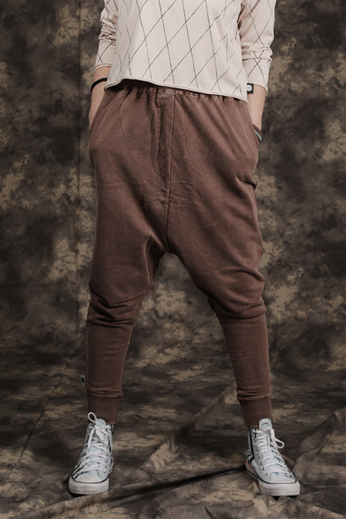 Women brown baggy pants