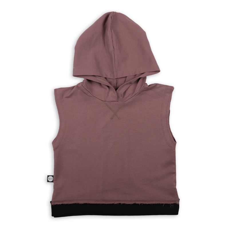Teens dusty lavender sleeveless hoodie