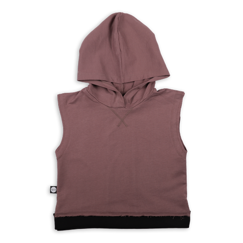 Kids dusty lavender sleeveless hoodie