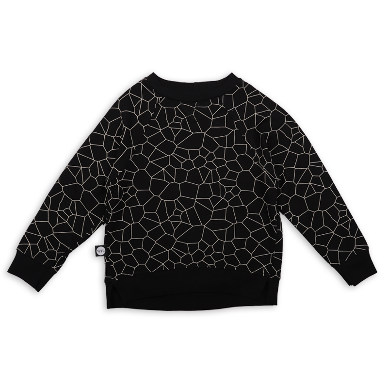 Baby black cracks print unisex sweatshirt