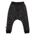 Teens black cracks print baggy pants
