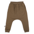 Teens khaki baggy pants with light orange patch
