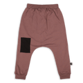 Teens dusty lavender baggy pants with black patch