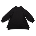 Girls black tunic sweatshirt with ivory trees print patch