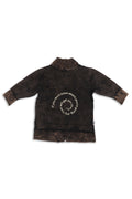 Kids unisex Black cardigan with a back print