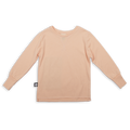 Baby light orange T shirt with khaki patch