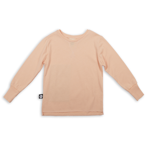 Kids light orange T shirt with khaki patch