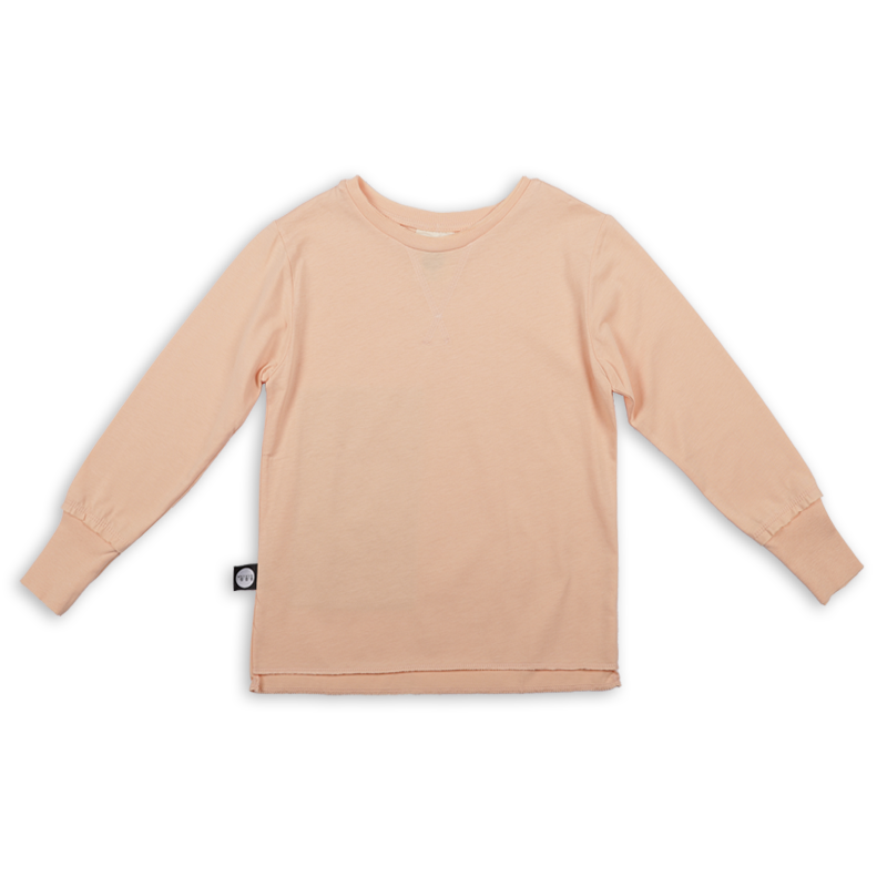 Teens light orange T shirt with khaki patch