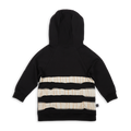 Kids black hoodie with ivory trees print panels at the back
