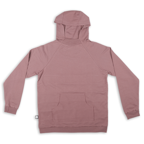 Women dusty lavender hoodie with black cracks panels at the back