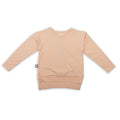 Light orange long T shirt with khaki patch at the back