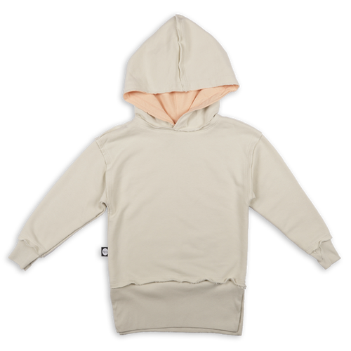 Teens ivory hoodie with ivory trees panel at the back