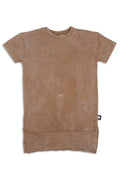Girls dusty Brown long T dress