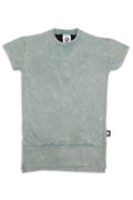 Girls Dusty teal long T dress
