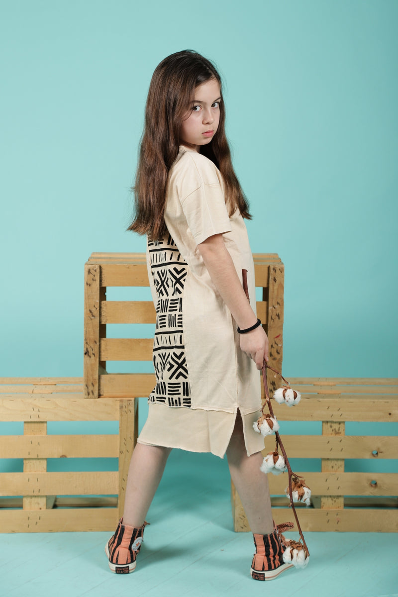 Girls Stone long T dress