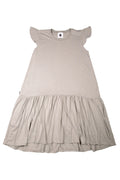 Women Khaki grey Sleeveless Drop Waist Dress
