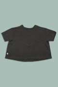 Girls charcoal A line shaped shirt