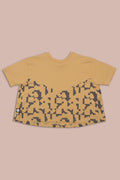 Girls mustard A line shaped shirt