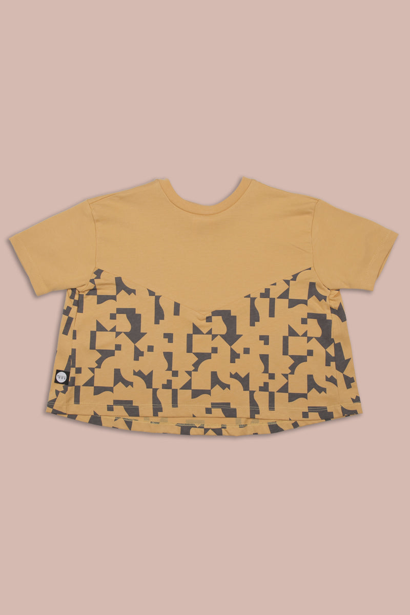 Mustard A line shaped teens shirt