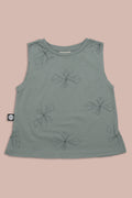 Baby dusty turkiz tank with perspective print