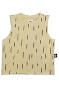 Teens dusty yellow unisex tank