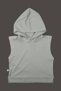 Kids dusty turkiz sleeveless hoodie