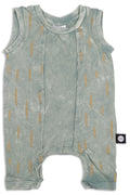Baby dusty teal sleeveless romper