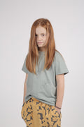 Kids dusty T shirt turkiz with perspective print