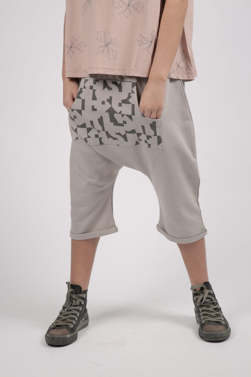 Teens grey 3\4 baggy pants