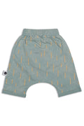 Baby unisex dusty teal 3/4 baggy pants