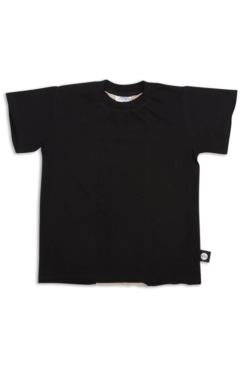 Teens black unisex T-shirt