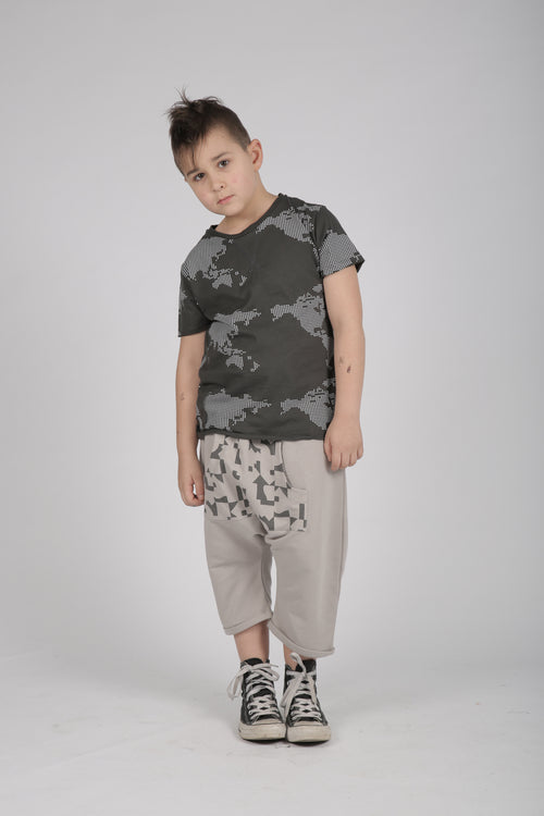 Kids grey 3\4 baggy pants