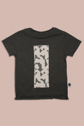 Kids charcoal T shirt with patch