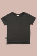 Teens charcoal T shirt with patch