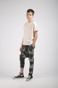 Teens dusty turkiz baggy pants with patch