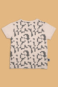 Teens nude T shirt with puzzle print