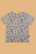 Baby grey T shirt with puzzle print