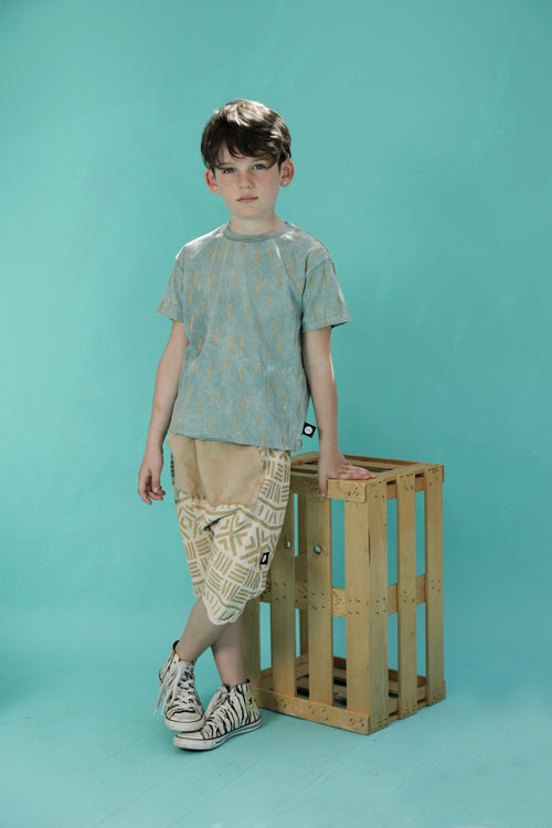 Kids unisex stone 3/4 baggy pants