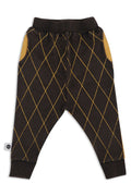 Kids & Teens unisex black rhombus baggy pants