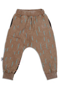 Brown baggy unisex pants