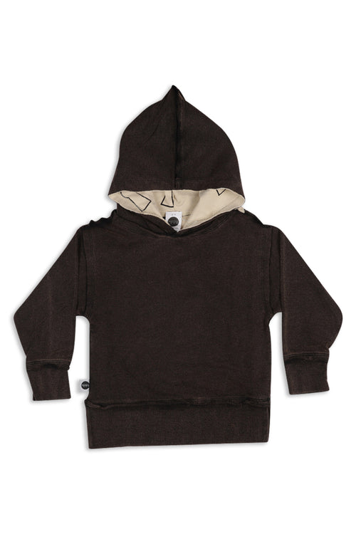 Kids & Teens unisex Black long hoodie