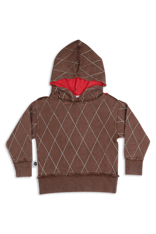 Kids & Teens unisex Brown long hoodie