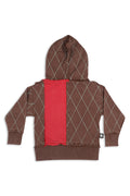 Women Brown long hoodie - Small size
