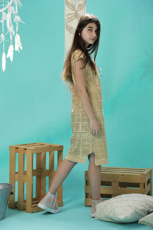 Teen girls Sand midi dress