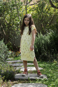 Girls Yellow midi dress