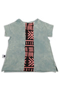 Baby girl dusty teal tunic