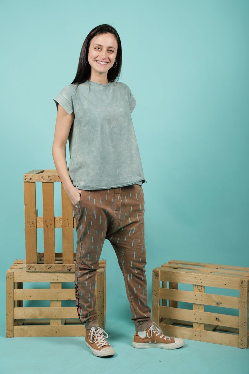 Woman dusty teal tunic