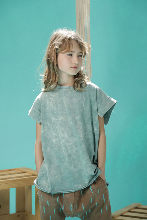 Teen girls dusty teal tunic