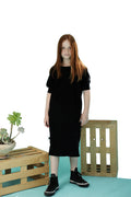 Girls Black straight dress