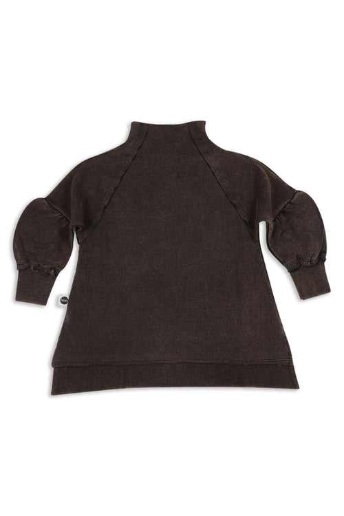 Girls Black tunic sweatshirt